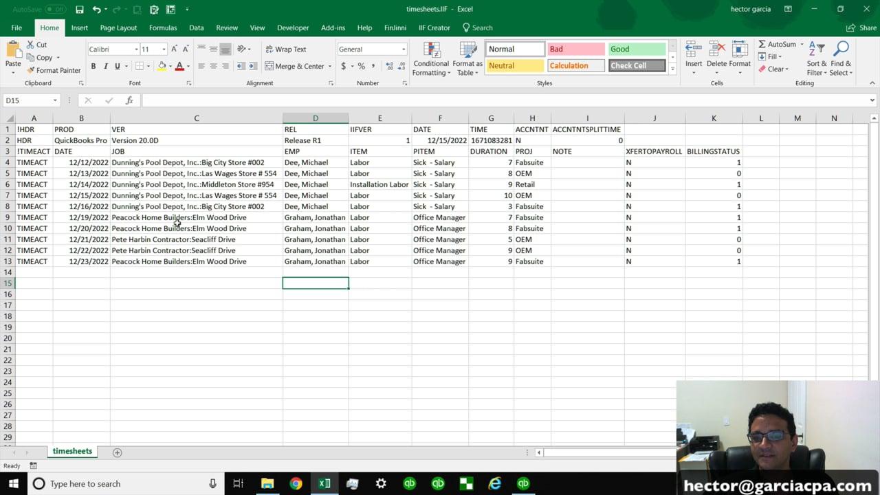 QuickBooks Desktop – HECTOR GARCIA